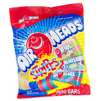 AirHeads Striped Taffy Mini Candy Bars Packs: 12-Piece Box