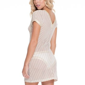 Luli Fama White Beach Dress - Desert Babe