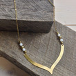 Brushed Bead Necklace