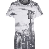 River Island Boys empire state print t-shirt