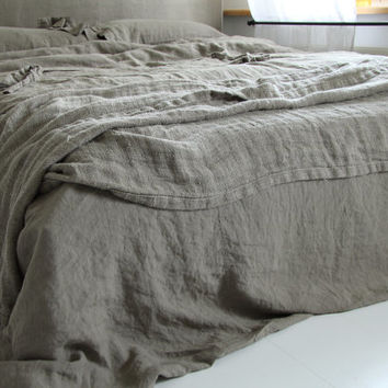 Linen duvet cover and 2 pillowcase  linen bedding by mooshop
