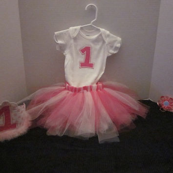 Baby Girl 1st Birthday Onsie, Princess Crown Party Hat, And Hairbow 1st Birthday By Sweetpeas Bows & More