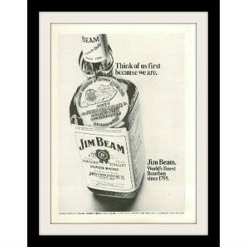 "1969 Jim Beam Bourbon Whiskey Ad ""We Are"" Vintage Advertisement Print"