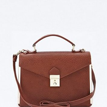 Deena & Ozzy Satchel in Tan - Urban Outfitters