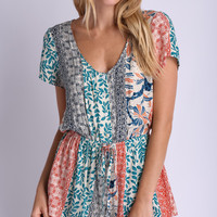 (buy early) All Leaved Playsuit in Green