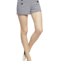 High Waist Stripe Sailor Short | Wet Seal