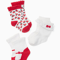 layette three-pack sock set