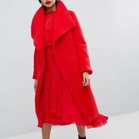 Missguided Waterfall Teddy Coat at asos.com