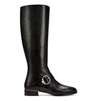 Tory Burch Sofia Leather Riding Boots, Black