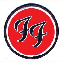 Foo Fighters Men's Embroidered Patch Red