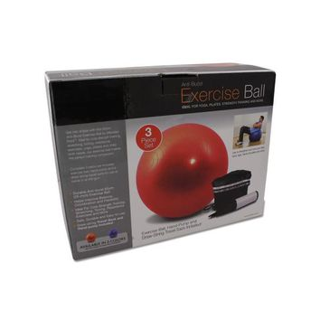 Pilates Exercise Ball And Pump (pack of 1)