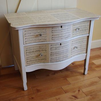 French Sheet Music Dresser