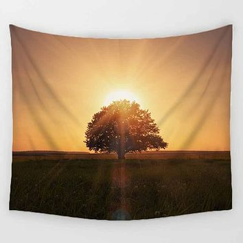 Tree In the Sunrise Tapestry