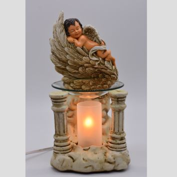 Angel Baby Table Fragrance Aroma Lamp Oil Diffuser Wax Tart Candle Warmer Burner Home Decor