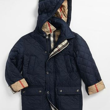 Boy's Burberry Quilted Jacket