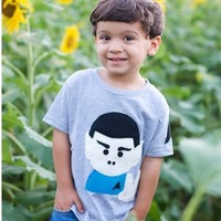 Handmade Felt Appliqued Spock Toddler Shirt