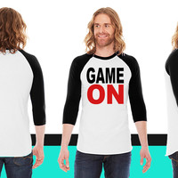 Game on American Apparel Unisex 3/4 Sleeve T-Shirt