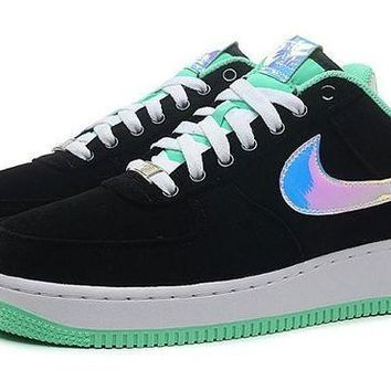 PEAP8KY Nike Air Force 1 488298-029 Mint Green Black For Women Men Running Sport Casual Shoes Sneakers