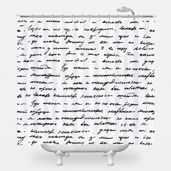 Handwriting Shower Curtain