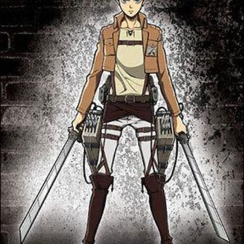 Attack on Titan Eren WALL SCROLL GE60369 Anime Cloth Official Licensed Poster