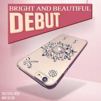 Fashion 2017 NEW For iPhone 6 6S Sparkling Diamonds Dream Cather Style Case For iphone 7 4.7 inch Free Screen Protector