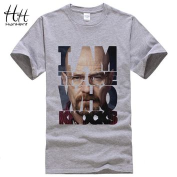 Breaking Bad T Shirts Men Heisenberg - I Am The One Who Knocks Tee