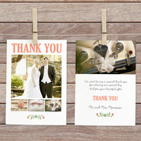 Photo thank you card, wedding thank you note, wedding thank you postcard,  thank you notes, digital thank you card, wedding photo postcard