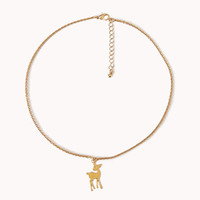 Down-To-Earth Deer Necklace