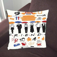 Friends TV Show collage - Pillow Case, Pillow Cover, Custom Pillow Case *02*