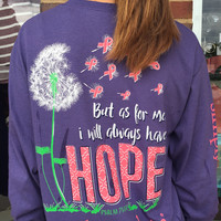 "Simply Southern ""Hope"" Long-Sleeve Tee - Purple"