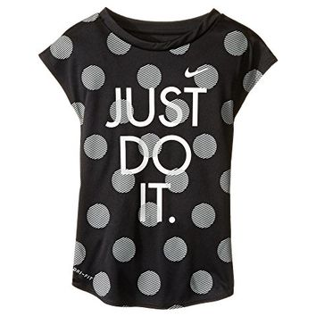 Nike Kids Polka Dot Just Do It Dri-Fit A-Line Tee (Little Kids)