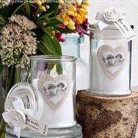 Rose Ancienne Collection Apothecary Jar Candle Favor