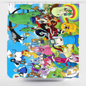 Adventure Time All Character For Custom Shower Curtain *