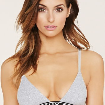 Rad Cotton-Blend Bralette | Forever 21 - 2000150655