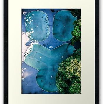 'Skatepark - Aerial Photography' Framed Print by Nicklas Gustafsson
