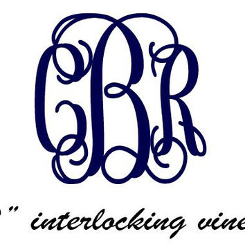 2 Monogram Interlocking Vines Cell Phone Vinyl by DecalInnovations