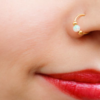 SALE - Nose Ring, Fake Nose Ring, Helix earring, Helix Piercing, Cartilage Piercing, Nose Rings, Conch Piercing, Faux Nose Ring, Nose Pierci