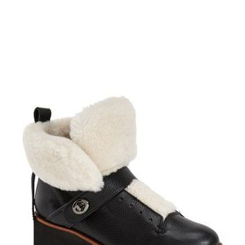 COACH 'Urban Hiker' Genuine Shearling Boot (Women) | Nordstrom
