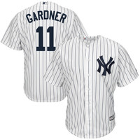 Brett Gardner New York Yankees Majestic Official Cool Base Authentic Collection Player Jersey – White