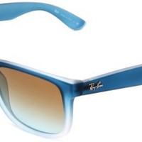 Ray-Ban RB4165 Square Sunglasses 54 mm, Non-Polarized, Blue Gradient/Gradient Brown