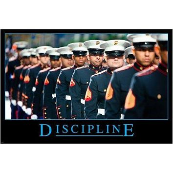 MILITARY UNIFORM motivational/inspirational poster DISCIPLINE 24X36 new
