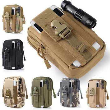 DCCK7N3 Universal Waist Belt Bag Wallet Pouch Outdoor Tactical Holster Military Molle Hip Purse Phone Case with Zipper for iPhone 7 /LG