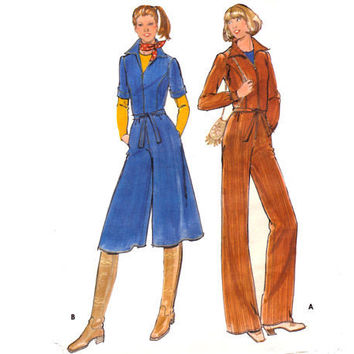 Vintage Sewing Pattern Jumpsuit Culottes by mysweetiepiepie