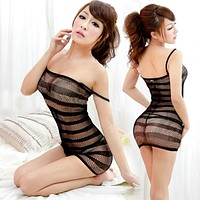 New Sexy Lingerie Swimsuit  Fishnet Bodysuit Body Stocking Dress Nightwear Underwear