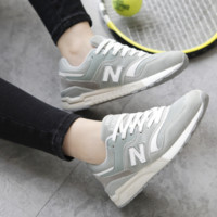 NEW BALANCE Women Men Casual Running Sport Shoes Sneakers  Light green N