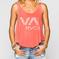 Rvca Zambezi Womens Tank Coral  In Sizes