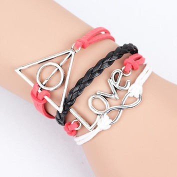 Harry Potter Deathly Hallows Multilayer Braided Bracelets