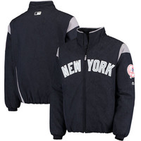 Men's New York Yankees Majestic Navy/Gray On-Field Therma Base Thermal Full-Zip Jacket