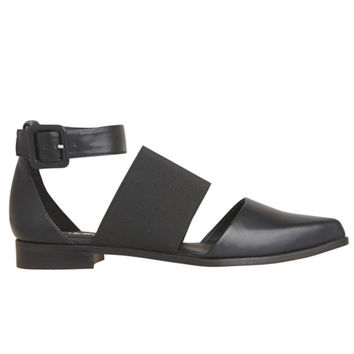 Lipstik Shoes - Cured Sandals - Black