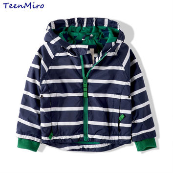 Kids Toddler Boys Jacket Coat Spring Autumn Striped Hooded Windbreaker For Children Outerwear Minnie Baby Clothes infant Blazer